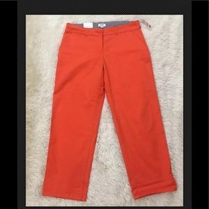 BNWT Crown & Ivy Orange Capris 6